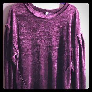 Free People purple velour shirt